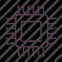 chip, cpu, desktop, microchip, monitor, pc, processor icon icon