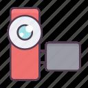 camera, communication, film, media, movie, video icon icon