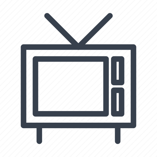 old tv, set, television, telly, tv icon