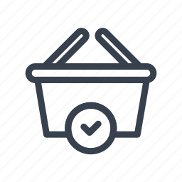 basket, buy, confirm, online, purchase, store icon