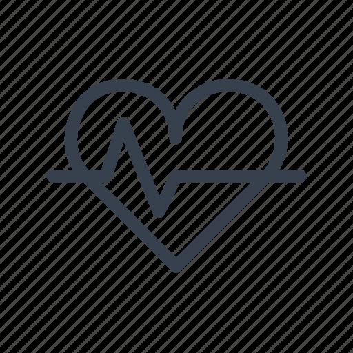 beat, cardiogram, health, heart, medicine, pulse, rhythm icon