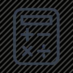 calc, calculator, minus, plus icon
