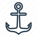 anchor, berth, dock, moor, wharf icon