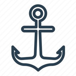 anchor, berth, dock, moor, wharf icon