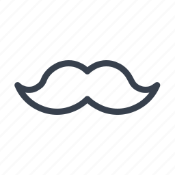 black moustache, hercule poirot, mustache, poirot, whiskers icon