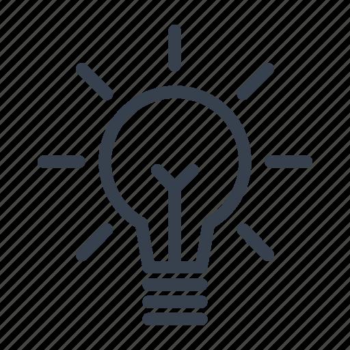 eureka, idea, lamp, light bulb icon