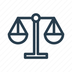 court, justice, libra, weighing, weight icon