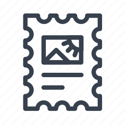 image, mail, post, postage, stamp icon