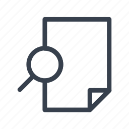 document, paper, preview, print, zoom icon