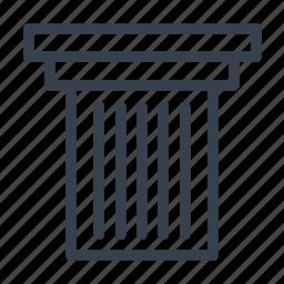 capital, caps, doric, order, small icon