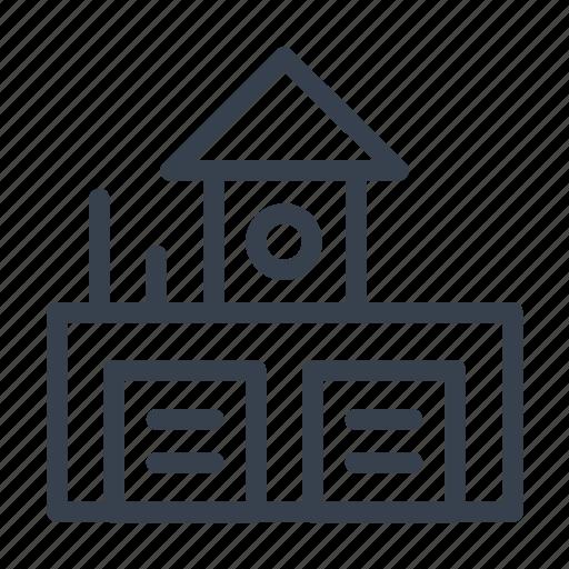 carpark, carport, garage, house, station icon