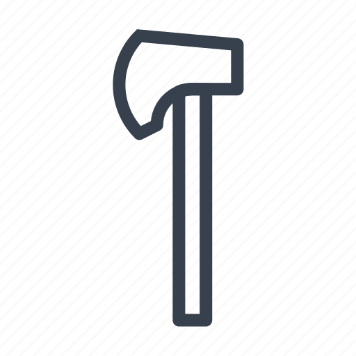 axe, hatchet, implement, instrument, tackle, tool, weapon icon