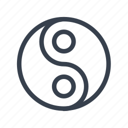 dualism, dualistic, mandala, religion, taoism, yin and yang icon