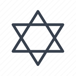 hexagram, seal, solomon, star, star of david icon