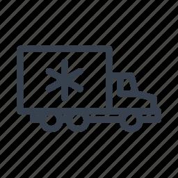 cream, iceman, reefer, refrigerated, truck icon