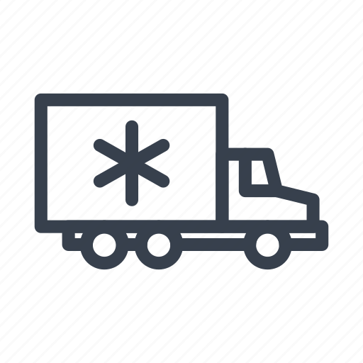 cream, iceman, reefer, refrigerated, truck icon
