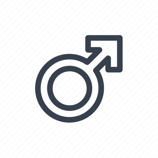 arrow, gender, male, man, sign icon