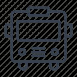 autobus, bus, car, vehicle icon