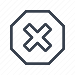cross, prohibition, restriction, sign icon