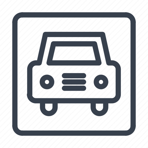 car, road, sing, vehicle icon