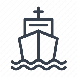 argosy, boat, freight, lading, ship, traffic icon