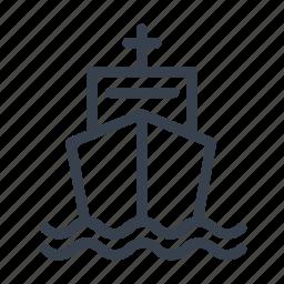 argosy, boat, freight, lading, ship, traffic icon