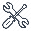 key, screw, screwdriver, spanner, tools, turn, wrench icon