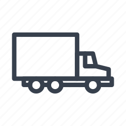 lorry, transport, truck, van, vehicle icon