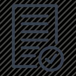 added to watchlist, document, done, watchlist icon