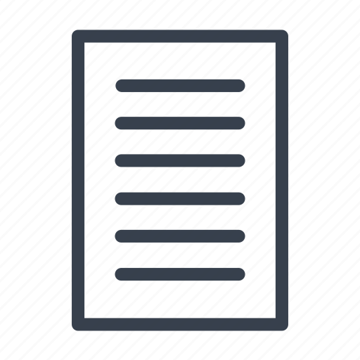 document, list, paper, watchlist icon