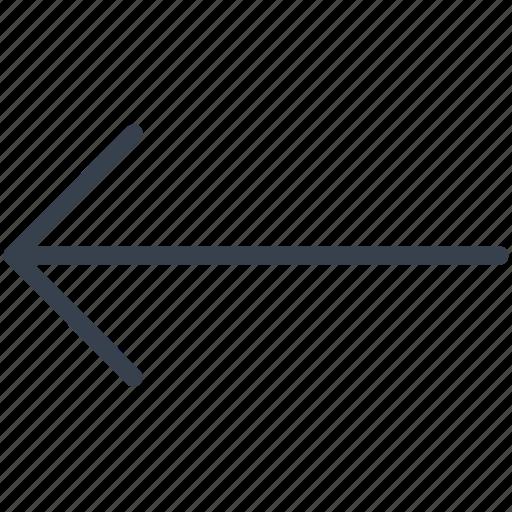 arrow, former, left, previous icon