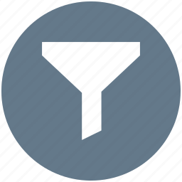 filter, filtering, funnel, sort icon icon