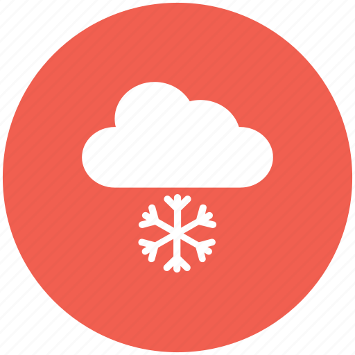 clouds, snow falling, snowing, weather, winter icon icon