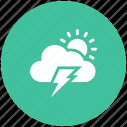 cloud, light, sun, thunderstorm icon icon