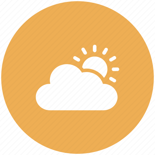 cloud, cloudy, sun, weather icon icon