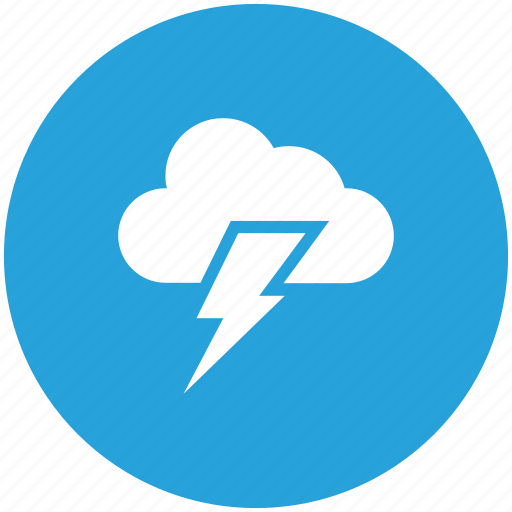 cloud, light, sun, thunderstorm icon icon