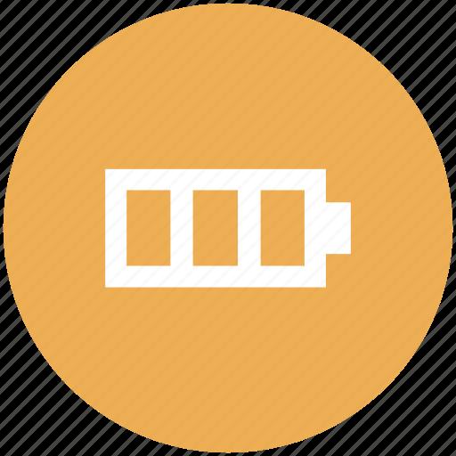 battery, battery status, full, full battery, full level icon icon