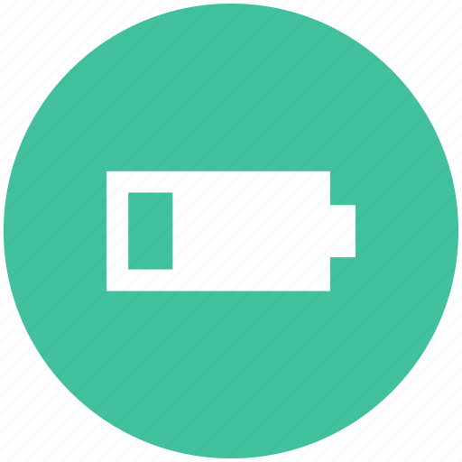 battery, battery status, low, low battery, low level icon icon
