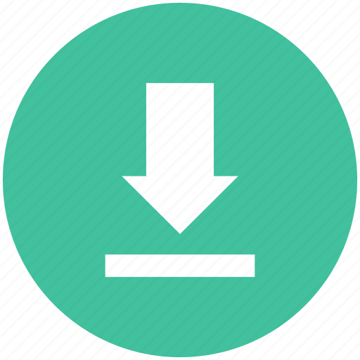 arrow, down, download, downloads, save icon icon