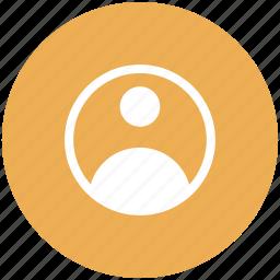 account, person, profile, user icon icon