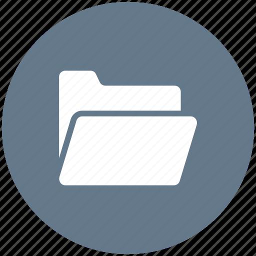 album, binder, blue, folder, portfolio, record icon icon