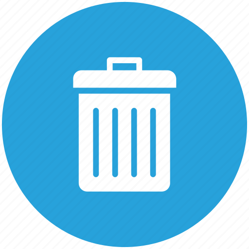 bin, delete, garbage, recycle, remove, trash icon icon