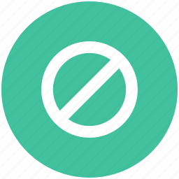 block, cancel, lock, stop icon icon