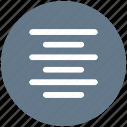 align, center, text icon icon