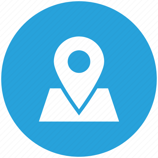 location, map, sticky icon icon