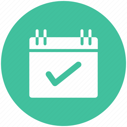 calendar, checkmark, date, event icon icon
