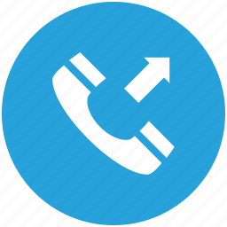 calling, outgoing call, phone call, phone receiver, receiver icon icon