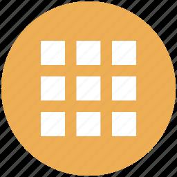 apps, grid, list, menu icon icon