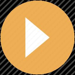 circle, movie, next, play, start, video icon icon