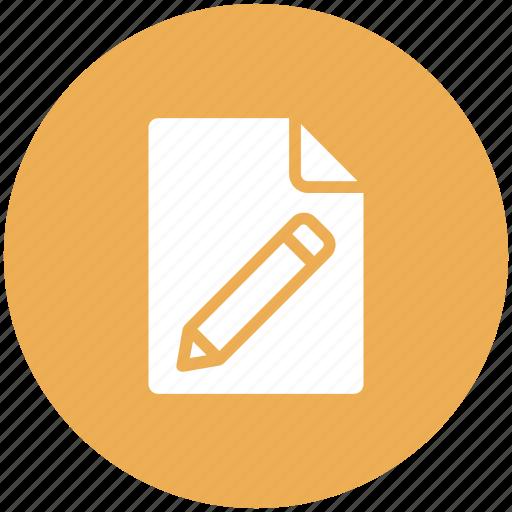 document, edit, file, pencil icon icon